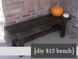 Simple Wooden Bench Design Plans by A Simple And Nice Diy Bench For 15 Great For Front Porch Or A