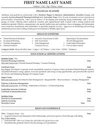 Mis Resume Example Financial Advisor Resume Download Resume Cv Example Salaried