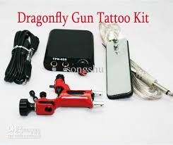 tattoo kit without machine top tattoo kits red dragonfly rotary machine gun min power supply