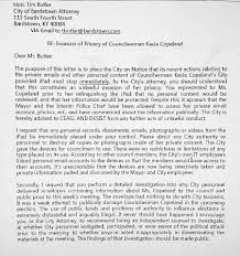 Attorney Cease And Desist Letter by Attorney Copeland U0027s Privacy Violated By City U0027s Inspection Of Her