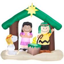 Snoopy Outdoor Christmas Decorations 78 Best Peanuts Nativity Images On Pinterest Peanuts Gang