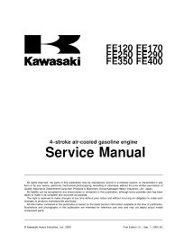 kawasaki fe290 400 engine service carburetor piston