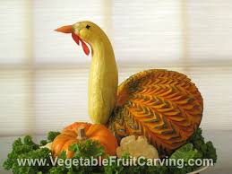 thanksgiving centerpieces carved turkey birds and pretty