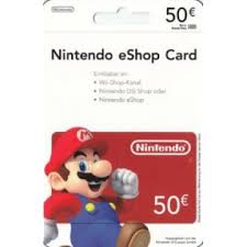 eshop gift cards nintendo eshop card 50 eur germany account digital