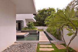 courtyard house plan the courtyard house near bangalore by abin design studio