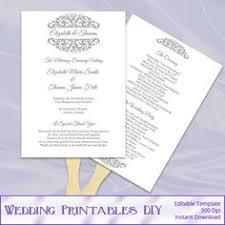 Paddle Fan Program Template Pink Wedding Programs Templates By Weddingprintablesdiy 8 00