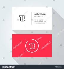 b simple letter minimal alphabet linear stock vector 348055511
