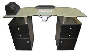 manicure table with vent manicure table with vented frosted glass top an941