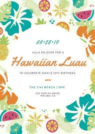 luau invitation templates canva
