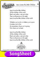 religious easter songs for children jesus the children song and lyrics from kididdles