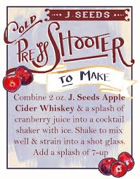 cocktail recipes poster j seeds apple cider whiskey