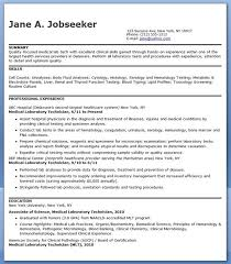 resume templates free for microbiologist medical laboratory technician resume sle creative resume