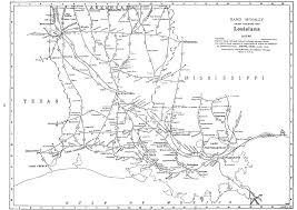 South Louisiana Map by P Fmsig 1948 U S Railroad Atlas