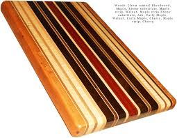 buy a custom made exotic wood cutting board full size made to