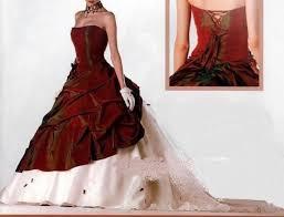 robes de mari e bordeaux robe de mariee bordeau et blanche avec traine et etole