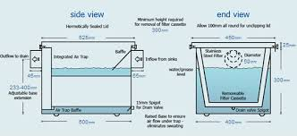 Grease Trap For Kitchen Sink Grease Trap 60 Litre Kitchen Sink Grease Trap