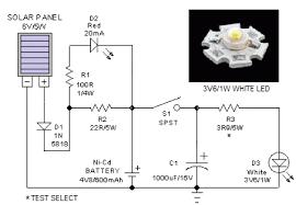 simple solar lantern circuit diagram