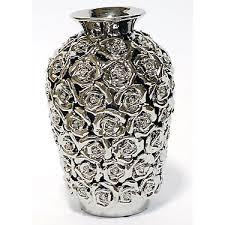 Silver Vases Silver Rose Vase Decorative Accents Accessories Zara