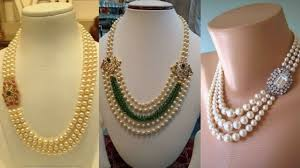 beaded necklace jewelry designs images Latest pearl necklace designs 2018 pearl beaded necklace jpg