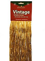 where to buy mylar buy brite fashioned christmas tinsel icicles gold mylar