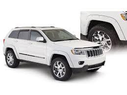matte white jeep bushwacker pocket style fender flares oe matte black front