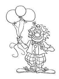 mr clown has tree balloon coloring page color luna