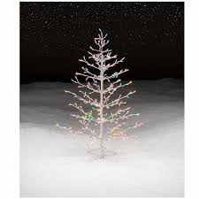 trim a home 4 5 multicolor lighted stick tree shop