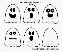 ghost friends ghost finger puppets free halloween