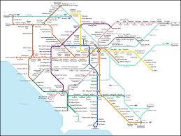 Metro Map Silver Line by Fake L A Subway Map What Los Angeles Would Look Like With A