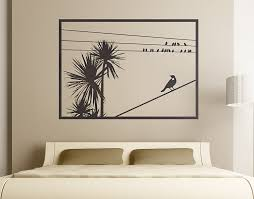 Tree Wall Mural by Cabbage Tree With Tui Window U2013 Your Decal Shop Nz Designer Wall
