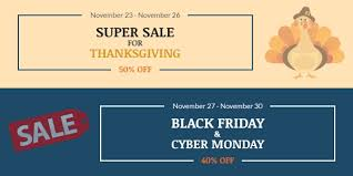 sale for thanksgiving black friday and cyber monday up to 50