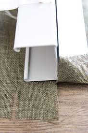 Make Roman Shades From Blinds Diy Burlap Roman Shades From Blinds Bless U0027er House