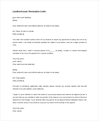 sample lease termination letter 8 free documents in doc pdf