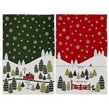 christmas towels dii christmas tree farm towel set 1 each dashing through the