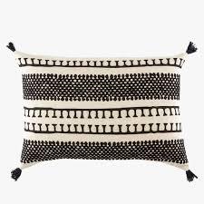 Casitas by Casitas Black Tassel Lumbar Pillow Dear Keaton