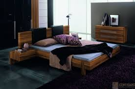 Italian Platform Bed In Los Angeles GAP Walnut Queen Size Bedroom - Contemporary platform bedroom sets