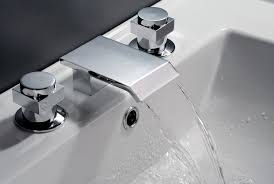 waterfall faucets for bathroom sinks 3 hole waterfall bathroom sink faucet