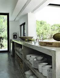 cuisine cote sud concrete kitchen island mag maison cote sud bijou