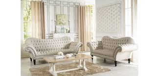 tufted living room furniture 7202 alina beige tufted fabric living room set