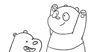 15 printable bare bears coloring pages