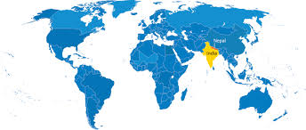 World Map India by World Map Nepal Roundtripticket Me