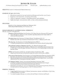 hr resume exles resume for international human resources susan ireland resumes