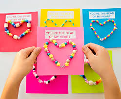 valentines for kids diy wire bead heart cards