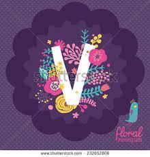 monogram websites vintage floral monogram made stock vector 232652806