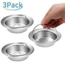 Kitchen Sink Drain Diameter 3 Pack Stainless Steel Kitchen Sink Strainer Yica 4 5 Inch