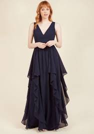 dress image as ruffles ripple maxi dress in navy modcloth