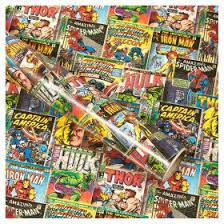 comic wrapping paper marvel roll wrap asda groceries