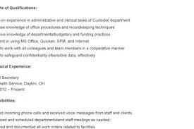 Sample Resume For Custodial Worker by Resume Samples Custodian Resume Custodial Worker Resume