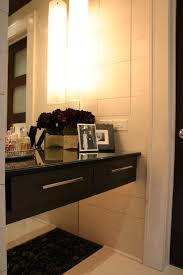 fake flower arrangements in bathroom contemporary with closet