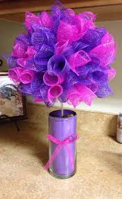 deco paper mesh pink and purple deco mesh topiary events